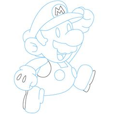 how to draw mario jumping