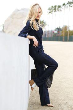 Denim Jumpsuit  #fashion