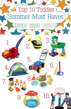 Top 10 Toddler Summer Must Haves wwwiheartartsncrafts.com #ToddlerToys #SummerFun