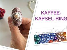 Nespresso Kapsel Schmuck Anleitung - RING - die magische (Kaffee-)Kapsel - YouTube