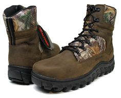 """Men's Wolverine Trappeur Waterproof Insulated Realtree 8"""" Outdoor Boots Size 7"""