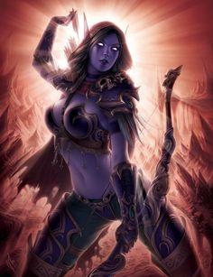 World of Warcraft - Elfa Dark Fantasy Art, Fantasy Girl, Chica Fantasy, Fantasy Warrior, Fantasy Women, Anime Fantasy, Fantasy Artwork, World Of Warcraft, Art Warcraft