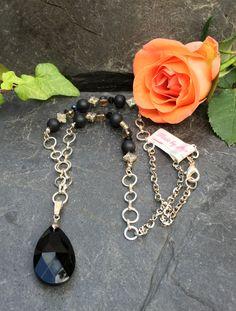 crystal drop necklace, Made by Arja Hannele Crystal Drop, Drop Necklace, Charmed, Crystals, Bracelets, Jewelry, Jewlery, Jewerly, Schmuck
