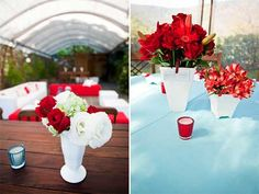 casamento azul com vermelho