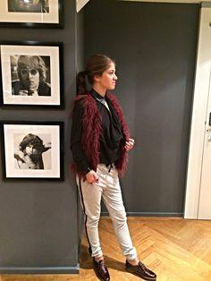 Set van de dag: Mix & Match  - Vest Geisha - Top Nikkie - Sweatpants Maison Scotch