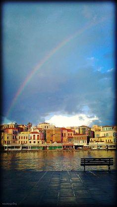 Rainbow over Chania, Crete (photo by Michalis Koulouridis)