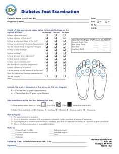 Download Comprehensive Diabetic Foot Exam Cdfe Form And Ada