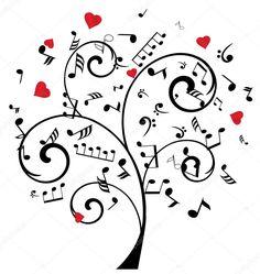 Descargar - Árbol de notas de música Vector — Ilustración de Stock #100842752