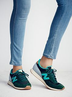 Capsule Wood Trainer at Free People Clothing Boutique How To Wear Sneakers, Baskets, Pumped Up Kicks, Beautiful Outfits, Beautiful Clothes, Green And Grey, Trainers, Baby Shoes, Free People