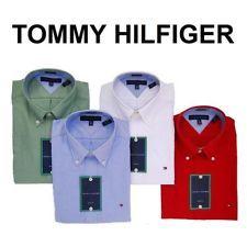 NWT TOMMY HILFIGER MEN BUSINESS SHIRT OXFORD REGULAR SLIM FIT~PICK COLOR & SIZE~