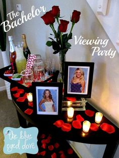 The Bachelor Viewing Party - Decorate your viewing party The Bachelor style! theblueeyeddove.com