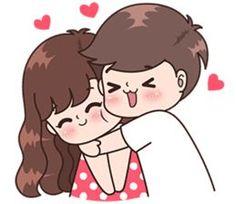 61 Ideas For Funny Couple Illustration Fun Cute Chibi Couple, Love Cartoon Couple, Cute Couple Comics, Cute Love Cartoons, Cute Love Couple, Bebe Anime, Anime Love, Cute Love Pictures, Cute Love Gif