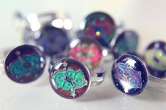 Pisces Star Sign Mood Rings :)  for sale on etsy