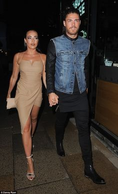 Party time! Stephanie Davis and boyfriend Sam Reece  headed out together for a night of pa...