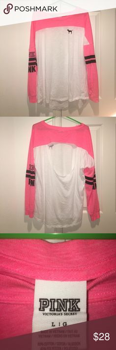 PINK Victoria's Secret Open Bag Long Sleeve Open back lounge shirt. Worn once. Great condition. Super soft. PINK Victoria's Secret Tops Tees - Long Sleeve
