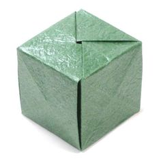 How to make a closed origami cube (www.origami-make. Xmas Crafts, Paper Crafts, Diy Crafts, Origami Cube, How To Make Origami, Boxes, Classroom, Projects, Cubes