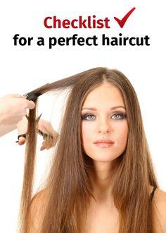 Checklist for a perfect haircut