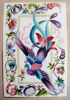 Elsa Williams Crewel Embroidery Kit Phoenix by EncoreEmporium