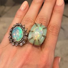 Gorgeous opals by @silviafurmanovich spotted at @museshowroom during @by_couture. #opal #opaljewellery #silviafurmanovich #opalring #museshowroom #rings #showmeyourrings #finejewellery #katerinaxcouture #thisiscouture