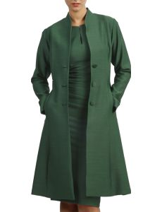 eb0447e72235ad Diva catwalk Raquella Coat Chrome Green 4616