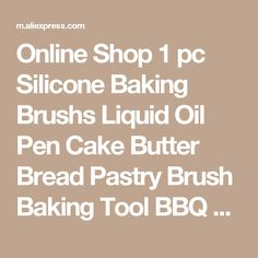 pastry brush on sale at reasonable prices, buy Delidge 1 pc Silicone Baking Brushs Liquid Oil Pen Cake Butter Bread Pastry Brush Baking Tool BBQ Utensil Safety Basting Brush from mobile site on Aliexpress Now! Pen Cake, Oil Pen, Summer Bridesmaid Dresses, Pastry Brushes, Floor Length Gown, Baking Tools, Wedding Blog, Wedding Ideas, Summer Wedding