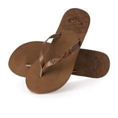 Roxy Flip Flops - Roxy Liza J Flip Flops - Brown