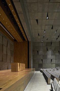 Michele Cappellotto Cinema Architecture, World Architecture Festival, Museum Architecture, Church Architecture, Auditorium Architecture, Hall Interior Design, Hall Design, Church Design, Modern Interior