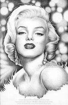 Marilyn Monroe Commission by Nicole-Marie-Walker | This image first pinned to Marilyn Monroe Art board, here: http://pinterest.com/fairbanksgrafix/marilyn-monroe-art/ || #Art #MarilynMonroe