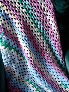 soft crocheted throw