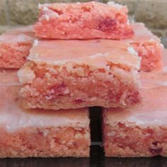 These #strawberry #brownies are a fun, out of the ordinary recipe! Get the recipe here: