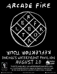 Arcade Fire in Bangor, Maine - August 20, 2014 at Darling's Waterfront Pavilion - Waterfront Concerts