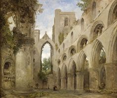 View of Dunkeld Cathedral, Perthshire, c.1850 by David Roberts (Scottish 1796-1864)