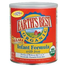 Earth's Best Organic Infant Formula with Iron 23.2 oz