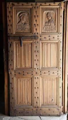 France, Aveyron, Saint-Côme-d'Olt Arched Doors, Old Doors, Windows And Doors, Cabinet Doors, Tall Cabinet Storage, The Doors Of Perception, Brown Doors, Beaux Villages, Chapelle