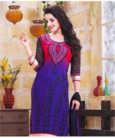 French Crepe Suit with Dupatta