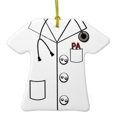 PA PHYSICIAN ASSISTANT LAB COAT CHRISTMAS ORNAMENT