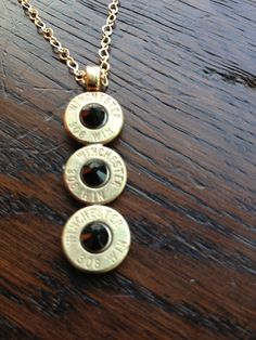 Handmade Personalized Triple .308 Caliber Bullet by AnetteWachter
