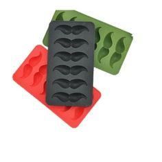 Flammee Bake House Moule a Gateau / Chocolat / Glace / Gelee£š 6 Trous ) en Silicone Moustache Antiadhesif Parfait Outil Fondant Mould for Cake 20.4*11.1*2.2CM - RANDOM COULEUR