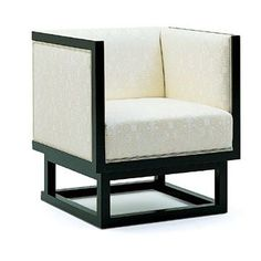Cabinett chair by Wittmann, Designer Josef Hoffmann. The cubic form of this armchair and table reflect Hoffmann's austerely geometrical phase at the start of the Century. The pieces were designed for Dr. Salzer's Vienna apartment. Bauhaus, Vintage Furniture Design, Art Deco Furniture, Contemporary Furniture, Contemporary Style, Silla Art Deco, Koloman Moser, Cubes, Deco Retro