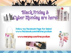 Be sure to follow me on #Facebook for #BlackFriday & #CyberMonday deals!  #MaryKay #SkinCare #Makeup #Gifts