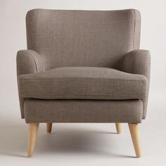 """Dolphin Gray Blakely Chair, 30.5""""W x 31.5""""D 