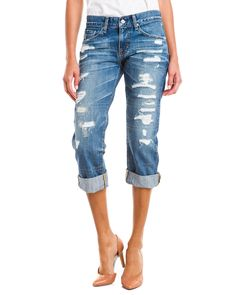 AG Jeans 25 Years Destroyed Cropped Ex-Boyfriend  JeanWomen #Pants