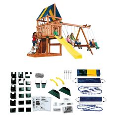 Alpine Custom Wooden Play Set Kit