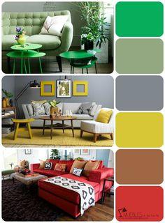 Aquí encontrarás las opciones más habituales para crear tu propia gama de colores para tu salón.