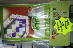 Table Runner Quilt Kit in fab purple/green cotton fabrics. Available from The Quilt Shop, Galway, Ireland. 087 629 2886