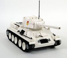 This is a Russian tank, the most-produced tank of the Second World War and the second most-produced tank of all time. Whilst America's … Lego Cars, Lego Plane, Lego Aircraft Carrier, Lego Ww2 Tanks, Lego Soldiers, Construction Lego, Lego Knights, Legos, Lego Pictures