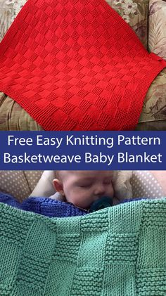 Free knitting pattern for beginner baby blanket knit with a grid of stockinette and garter stitch. Rated very easy by Ravelrers. Suitable for beginners. Aran weight yarn. Designed by Cathy Waldie. Easy Blanket Knitting Patterns, Easy Knit Baby Blanket, Free Baby Blanket Patterns, Baby Booties Knitting Pattern, Beginner Knitting Patterns, Knitted Baby Blankets, Easy Knitting, Crochet Patterns, Beginner Crochet