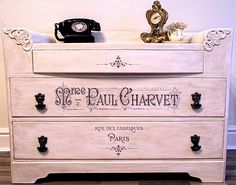 Beautiful changing table. Free image download by The Graphics Fairy.