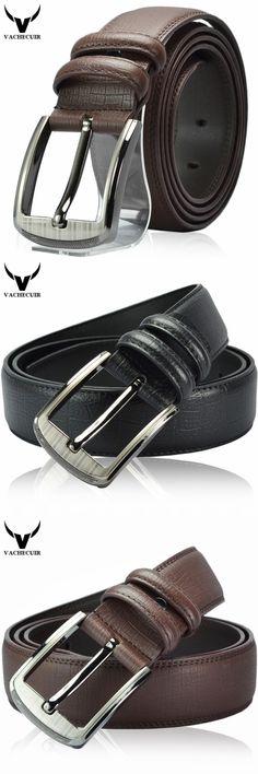 Boutique! Top Genuine Leather Men's Belt,Fashion Buckles Designer Strap Metal Belts For Men W151