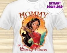 Princess Elena Dad of the Birthday Girl Iron by KidsPartyBoutique